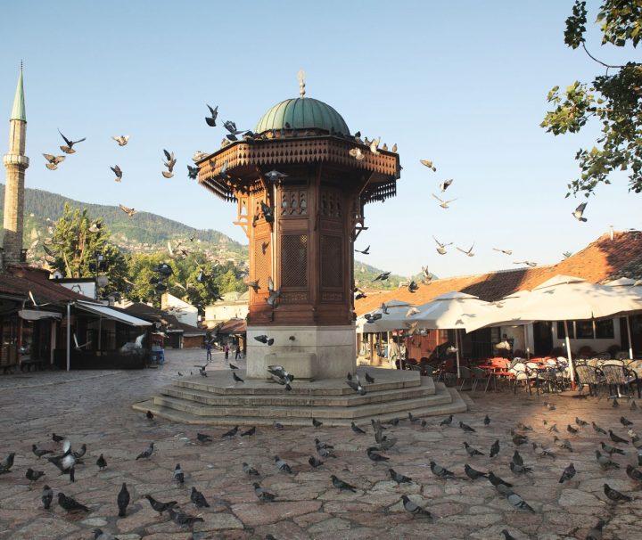 Sarajevo Sebilj Brunnen